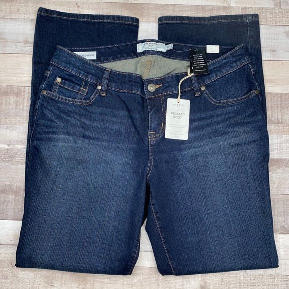 Torrid Relaxed Fit Mid Rise Bootcut Denim Jeans 12